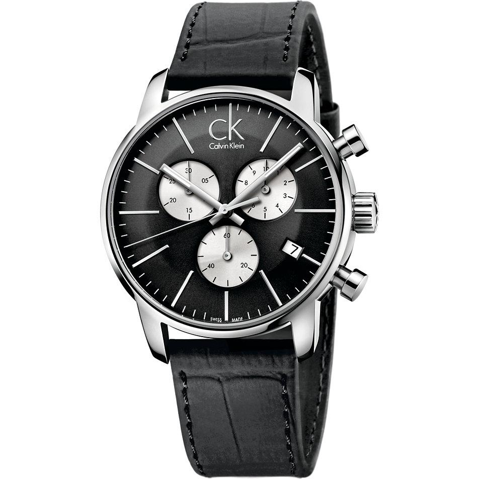 e508c0ae6d06 Reloj Hombre Ck Crono.piel Neg.es.gris K2G271CX