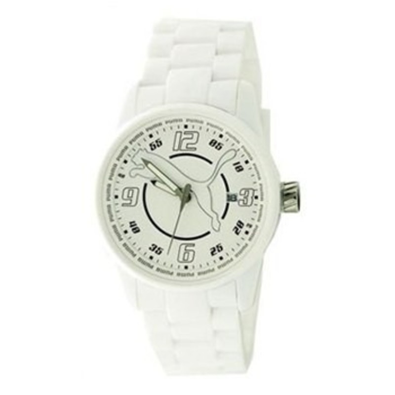 reloj puma blanco